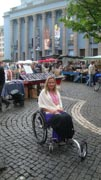 Deborah-Davis-on-wheelchair-tour-of-Stockholm-Sweden