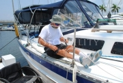 disability;disabled;wheelchair;male;sailing;adaptive;yacht;sea;boat;ocean;dock;jetty;pier;marina;sun;summer;america;usa
