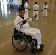 Karate-Bokken-demonstrated-by-man-in-wheelchair---wooden-sword