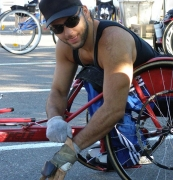 wheelchair;male;man;disability;disabled;racing-chair;road-cycling;road-race;wheelchair-racing