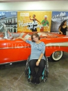 wheelchair;woman;female;disability;disabled;classic-car;indoor;havana