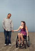 wheelchair;-woman;-women;-disability;-disabled;-access;-accessibility;beach;ocean;cafe;drinks;coffee;tea;dinning;friends;conversation;meeting;social;beach-access;prominade;foreshore;couple;dating;romance