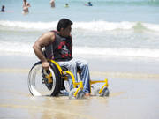 Self-propelled-beach-wheelchair