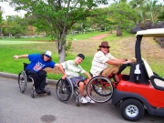 disabled;disability;wheelchair;men;golf;golf-cart;fun;wheelchair-train