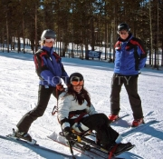 Young-woman-learning-to-ski-at-Breckenridge