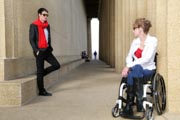 Portrait-Of-Man-And-Woman-In-Wheel-Chair-at-Nashvilles-Pathenon