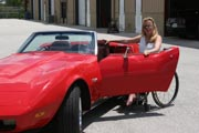 Woman-with-some-Classic-Cars
