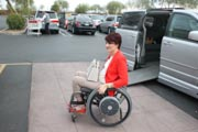 Woman-in-wheelchair-going-shopping-with-her-accessible-van.