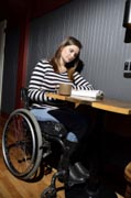 Pregnant-Mom-in-wheelchair-at-coffee-shop