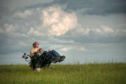 Man-using-power-wheelchair-flying-kite