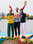 Rio-2016-Paralympic-Games-Inaugural-Canoe-Sprint-Competition.-Women's-KL3-final,-Gold-Anne-Dickins-Great-Britain,-Silver-Amanda-Reynolds-Australia,-Cindy-Moreau-France